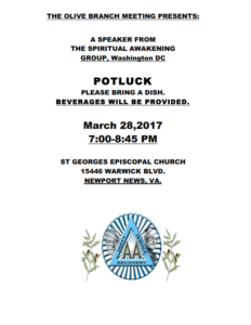 The Olive Branch Meeting Presents: @ St Georges Episcopal Church | Newport News | Virginia | United States