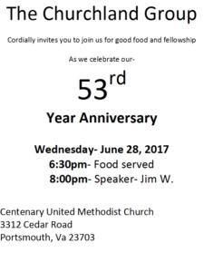 The Churchland Group - 53rd Anniversary @ Centenary United Methodist Church | Portsmouth | Virginia | United States