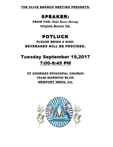 Olive Branch Speaker from Side Door @ St. George's Episcopal Church | Newport News | Virginia | United States