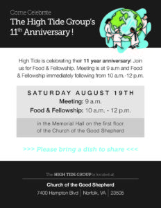The High Tide Group's 11th Anniversary ! @ Church Of The Good Shepherd | Norfolk | Virginia | United States