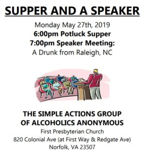 SUPPER and a SPEAKER by SIMPLE ACTIONS GROUP @ First Presbyterian Church | Norfolk | Virginia | United States