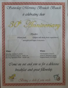 Saturday Morning Brunch Bunch 30th Anniversary Meeting @ Old Donation Church | Virginia Beach | Virginia | United States