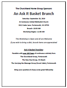 An Ask It Basket Brunch @ Centenary United Methodist Church | Portsmouth | Virginia | United States