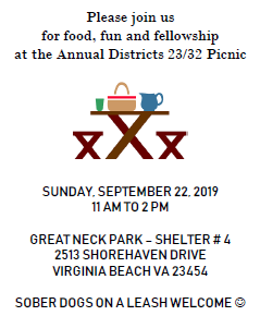 Annual Districts 23/32 Picnic @ GREAT NECK PARK – SHELTER # 4 | Virginia Beach | Virginia | United States