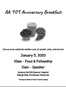 AA 101 Anniversary Breakfast @ Sentara Norfolk General Hospital, Raleigh Bldg. Brickhouse Classroom | Norfolk | Virginia | United States