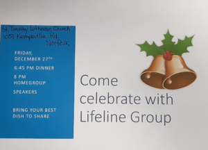 Come Celebrate with Lifeline Group @ St. Timothy Lutheran Church | Norfolk | Virginia | United States