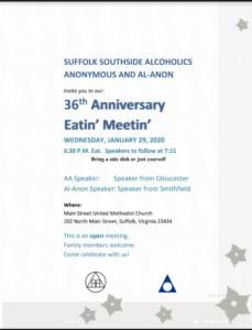 36th Anniversary Eatin' Meetin' @ Main Street United Methodist Church | Suffolk | Virginia | United States