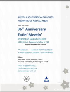 36th Anniversary Eatin' Meetin' @ Main Street United Methodist Church | Suffolk | Virginia | United States