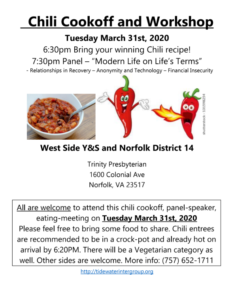 Chili Cookoff and Workshop @ Trinity Presbyterian | Norfolk | Virginia | United States