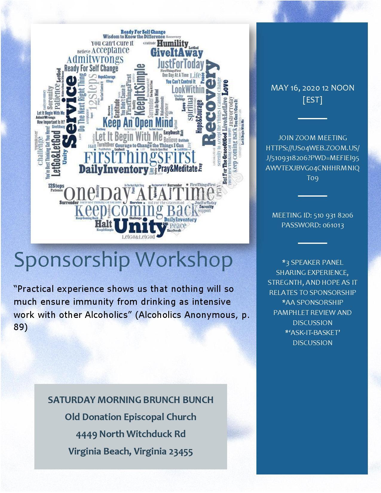 Sponsorship Workshop • Tidewater Intergroup Council