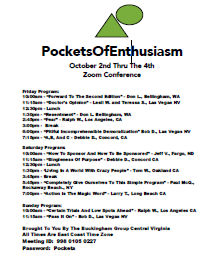 Pockets Of Enthusiasm @ Meeting ID: 998 0105 0227 Password: Pockets