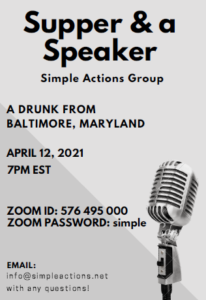 Supper & a Speaker -  Simple Actions Group @ Zoom