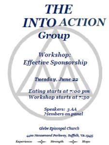 Workshop: Effective Sponsorship @ Glebe Episcopal Church | Suffolk | Virginia | United States