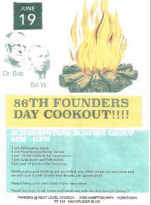 AA Founder's Day Bonfire Meeting @ Next Level Church | Yorktown | Virginia | United States
