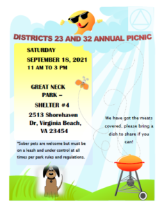 Districts 23 and 32 Annual Picnic @ Great Neck Park - Shelter #4 | Virginia Beach | Virginia | United States