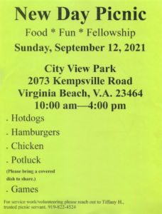 New Day Picnic @ City View Park | Virginia Beach | Virginia | United States