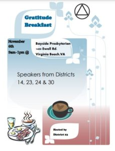Gratitude Breakfast @ Bayside Presbyterian Church | Virginia Beach | Virginia | United States