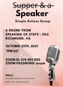 Speaker Meeting - Simple Actions Group @ Zoom