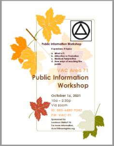 VAC Public Information Workshop @ Zoom